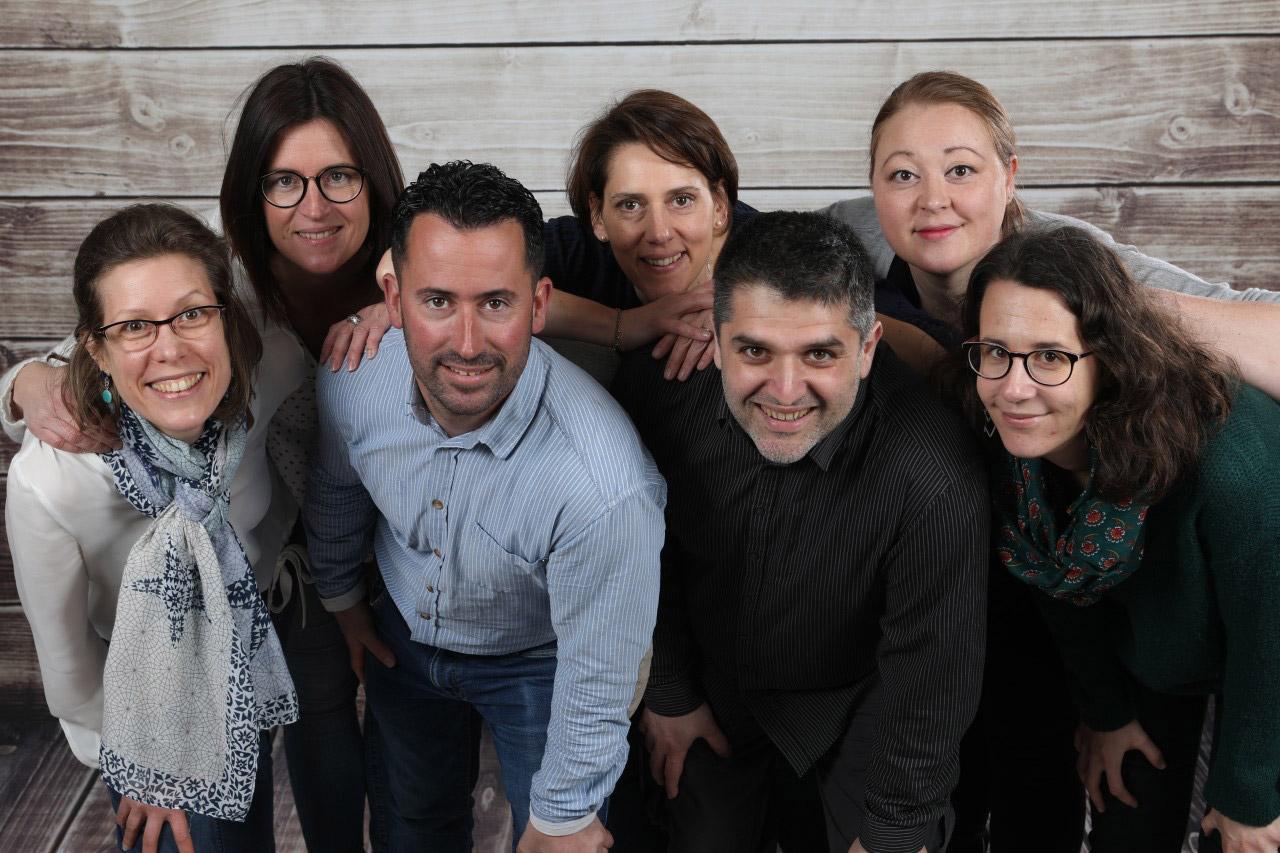 Photo de groupe des membres du bureau de l'amicale laîque rené millet - ALRM